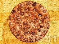Козуначен кейк (кекс, сладкиш) с орехи (с мая)